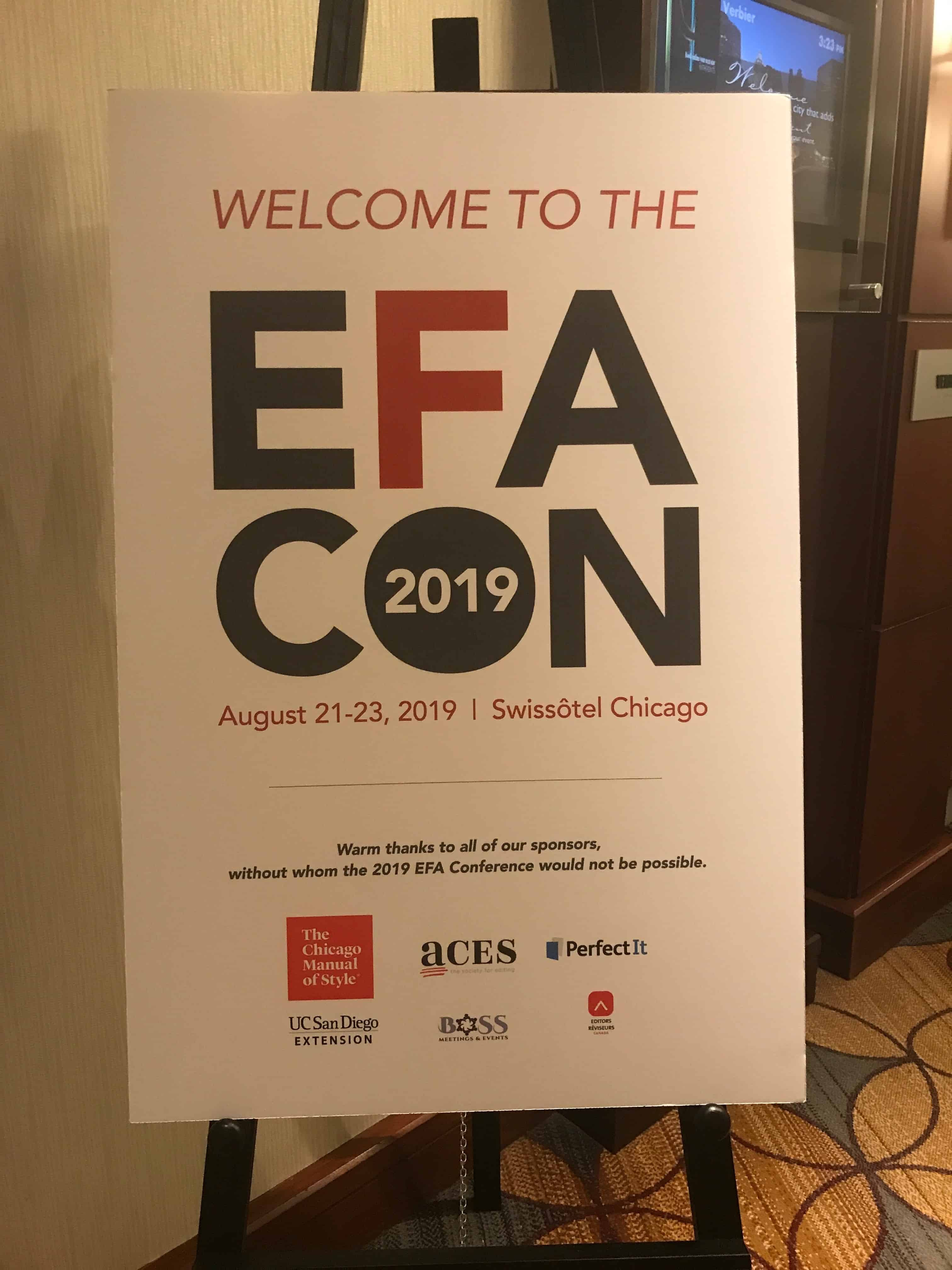 Poster for EFACON 2019